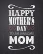 Chalkboard Mother's Day Design