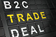 Business concept: Trade on airport board background