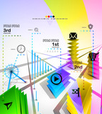 City modern infographics banner design template