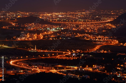 Muscat city in the night, Oman