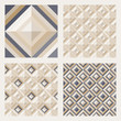 Set of floor tiles. Patterns with square diamonds