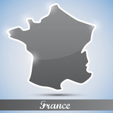 shiny icon in form of France
