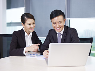 asian business people working in office