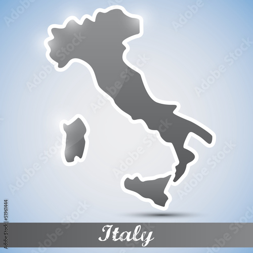 shiny icon in form of Italy