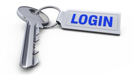 Schlüssel mit Anhänger - Login