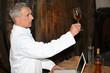 Oenologist analysing a wine