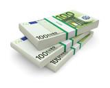 Euro bills stacks