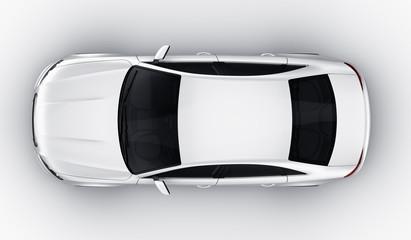 White car in studio