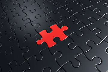 Black and red puzzle