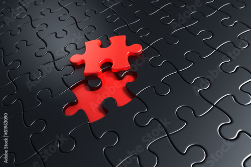 Lifted puzzle piece