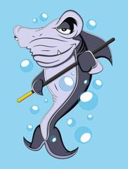 Cartoon Shark Vector Illustration