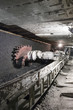 Leinwanddruck Bild Coal extraction: Coal mine excavator