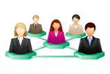 vector illustration of social human networking