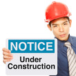 Under Construction Sign (on white)