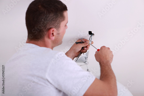 Man repairing lighting
