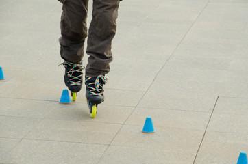 Slalom practice