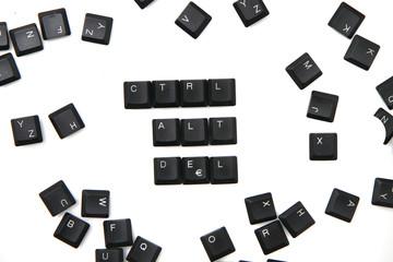 keyboard keys - ctrl, alt, del