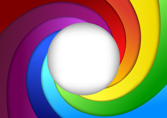 Bright rainbow background - focus