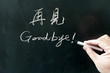 Bilingual goodbye word