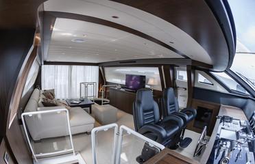 Italy, Viareggio (Tuscany), 100' luxury yacht, dinette