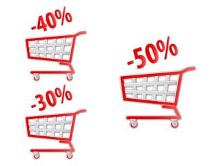 Discount shopping cart.