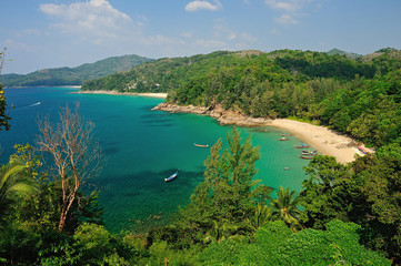 Bird eye view of Phuket viewpoint, Thailand