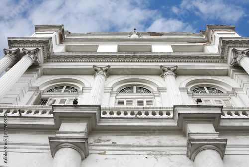 The beautiful facade of the Indian Museum of Kolkata