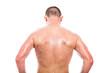 Back view of shirtless man