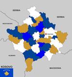 kosovo map poster