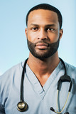 Exhausted African American Doctor Portrait