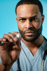 African American Doctor Performing An Examination