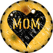 mother's day illustration, grungy sign, vector illustration