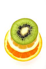 Arancia.limone e kiwi
