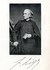Hungarian pianist and composer Franz Liszt