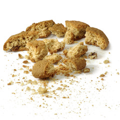 crumbled cookies