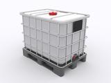 IBC Container auf Kunststoffpalette
