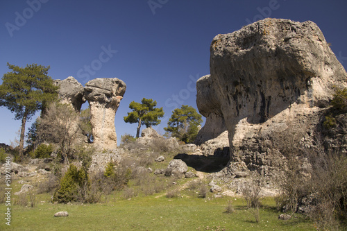 Limestone Rocks in cuenca, Spain