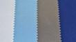 Textura de tela en colores blanco, azul y gris