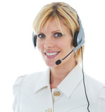 Friendly Beautiful Blonde Telemarketer