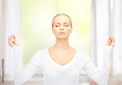 beautiful woman in meditation
