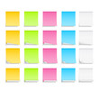 Set od different colored post-it notes