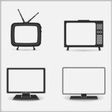 Retro and modern TV icons