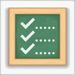 Blackboard with icon of a checklist
