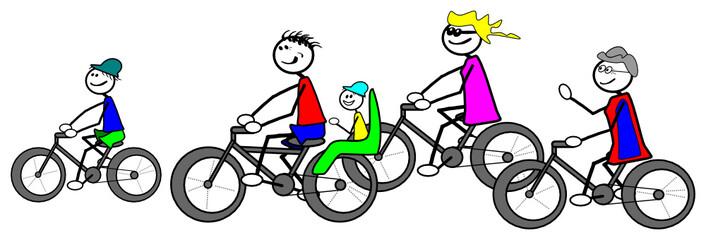 Familien Radtour