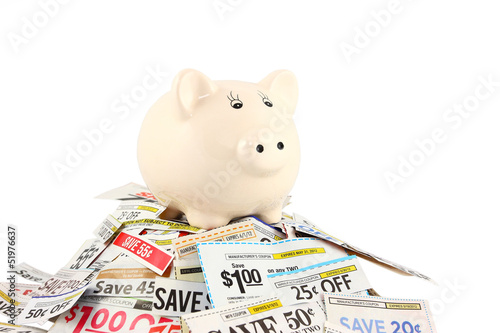 Piggy Bank On Coupons