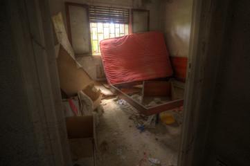 Abandoned house, Madrid, Spain