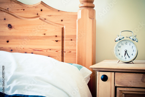 Retro look pine bedroom furniture