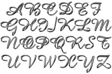 Alfabeto argentato