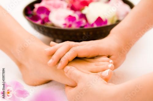 Fototapeten,foot massage,massage,frau,kopf