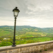 Chianti region, lamp and rural landscape. Radda, Tuscany, Italy